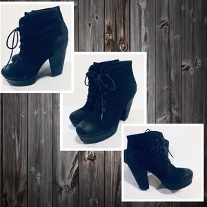 STEVE MADDEN Rapsy Ankle Boots Lace-up  Black